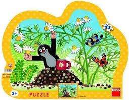 Puzzle Krtek s hrníčkem 25d. kontura