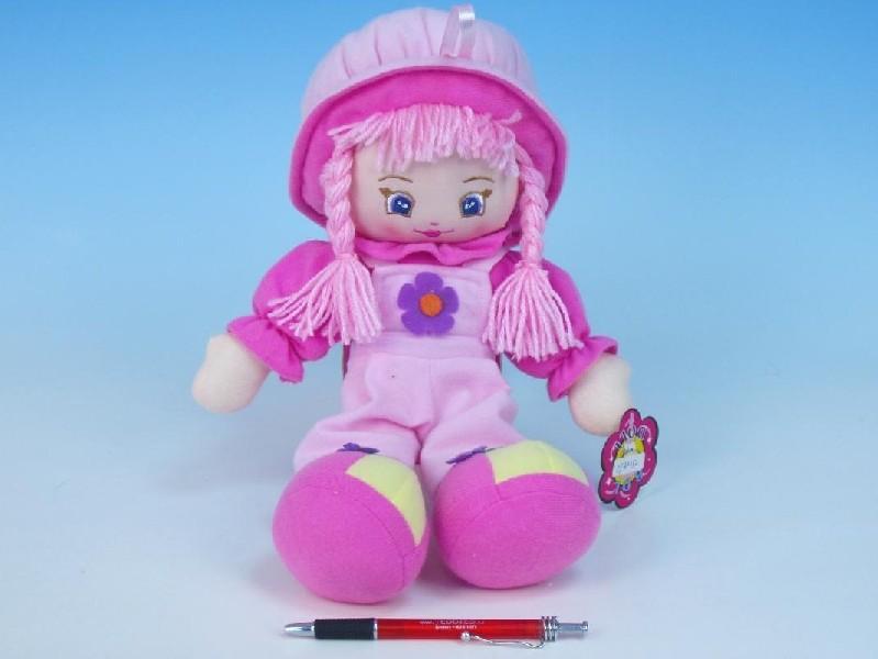 Panenka hadrová růžová, 37cm, holka