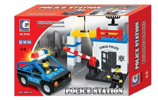 Ligao Policejní stanice - velké kostky 50 ks