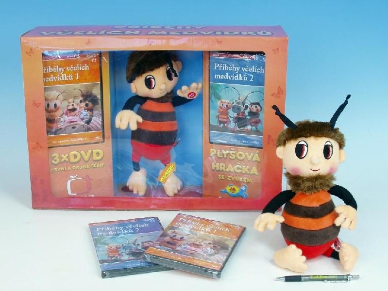 Dárkový set - Včelí medvídek - Brumda + 3ks DVD v krabičce