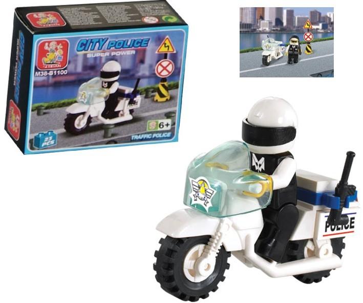 Sluban Policejní motorka 23ks