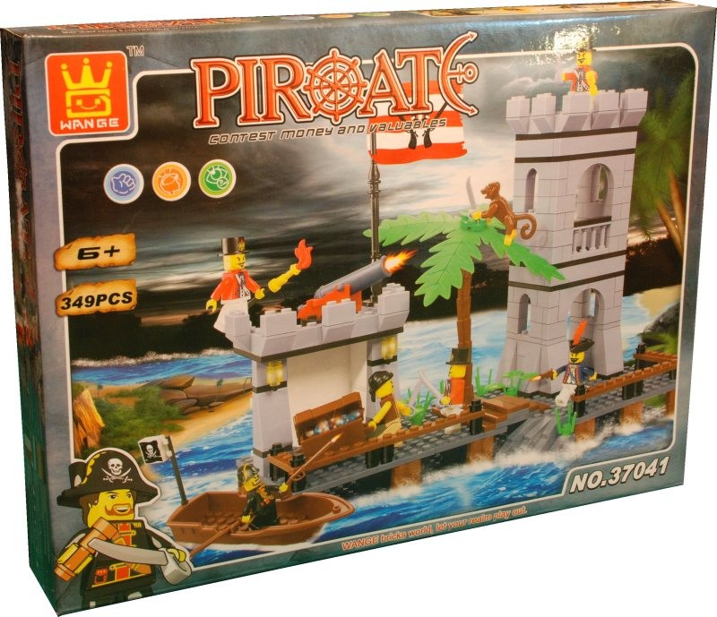 Wange Toys Piráti - hradby 349 ks