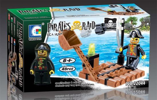 Wange Toys Piráti - Námořní lov 45ks