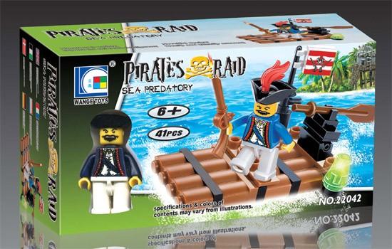 Wange Toys Piráti - Námořní lupiči 41ks