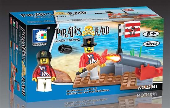 Wange Toys Piráti - Pobřežní bitva 30ks