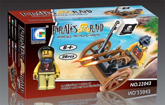 Wange Toys Piráti - Válečný vůz 28ks