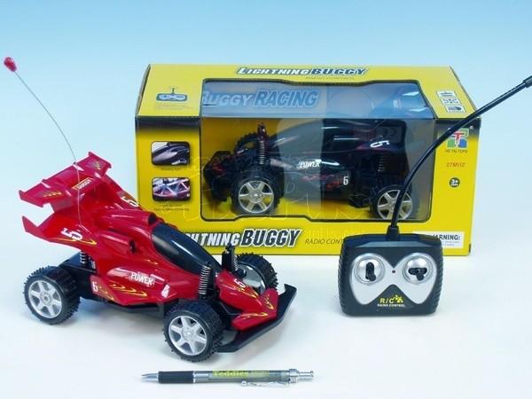 Auto RC Buggy plast 23cm na vysílačku na baterie se světlem
