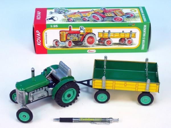 Traktor Zetor s valníkem kovový